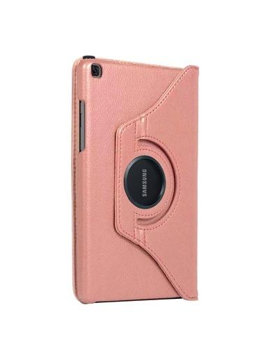 Microsonic Samsung Galaxy Tab A7 T500 Kılıf 360 Rotating Stand Deri Pudra
